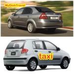 So sánh giữa taxi và xe MyDinhTravel